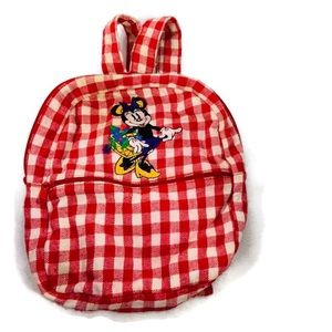 Vintage Disney Minnie Mouse Checkered Backpack